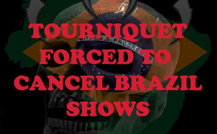 TOURNIQUET cancela vinda ao Brasil e culpa produtora em carta abertabombástica.